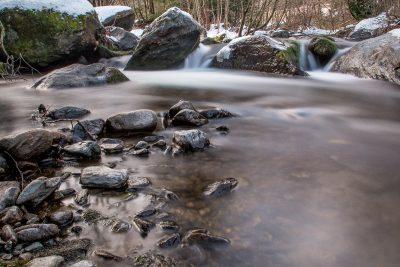 Langzeitbelichtung Wasser Bach Ulten