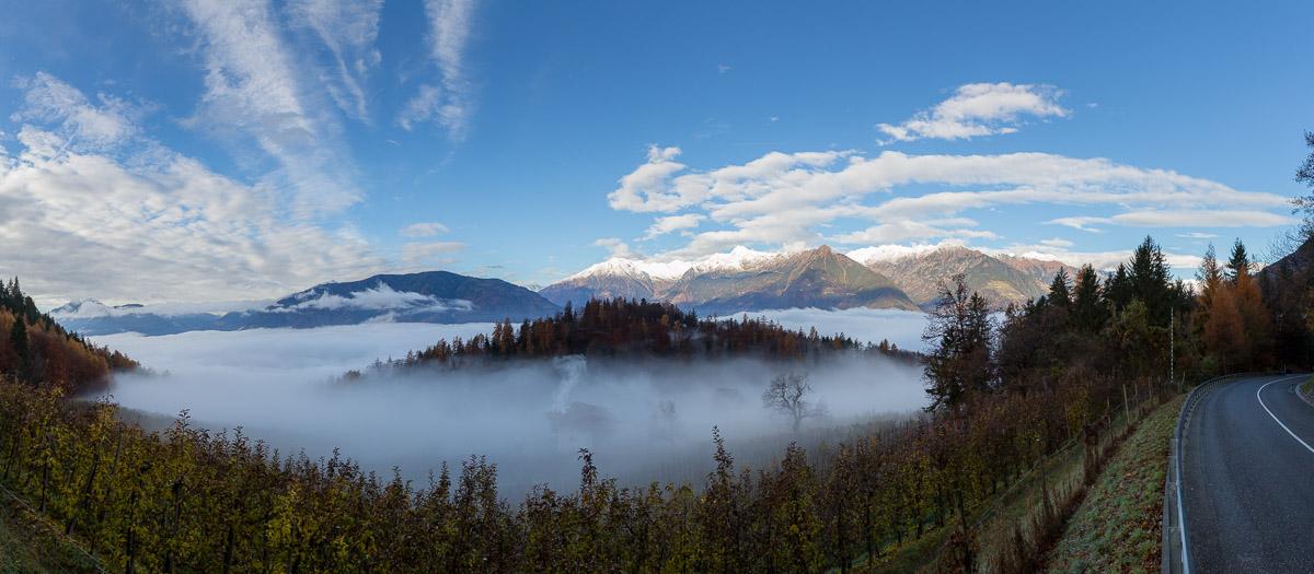 Panorama Nebel Wolken